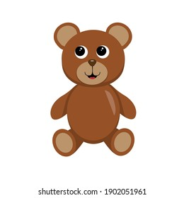 Vector teddy bear for a kindergarten or toy store. Perfect as an icon or avatar
