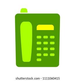 vector telephone machine illustration - phone symbol isolated, communication call icon