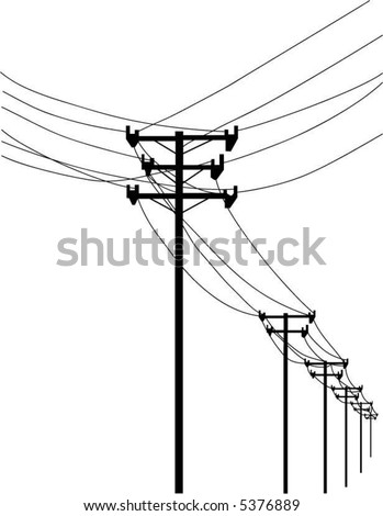 Vector Telephone Poles Wires Stock Vector Royalty Free 5376889