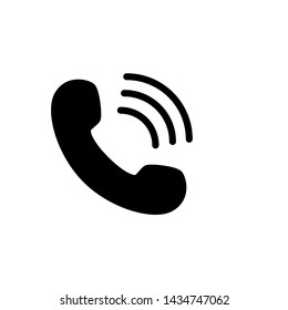 Vector Telephone Solid Glyph Flat icon