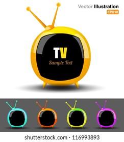 Vector television circle