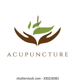 Vector template of acupunture theme