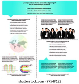 vector template for advertising.brochure with business people