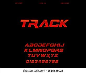 Vector template alphabet font editable