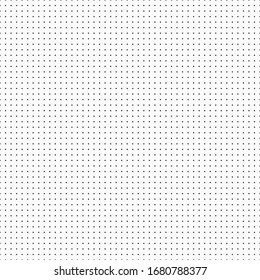 Vector template background from dots for daily notes and drawing. Seamless vector dot pattern.