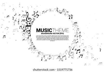 ベクターテンプレートバナーとポスター音楽のメロディー音楽の踊りの流れ。歌とコンサートのテーマのコンセプト背景。