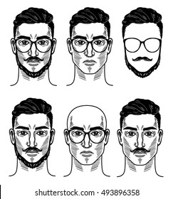 Vector template for barbershop
