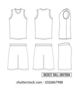 Vector Template Basketball Uniform