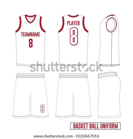 d39ba527ce53 Basketball Uniform Design Template