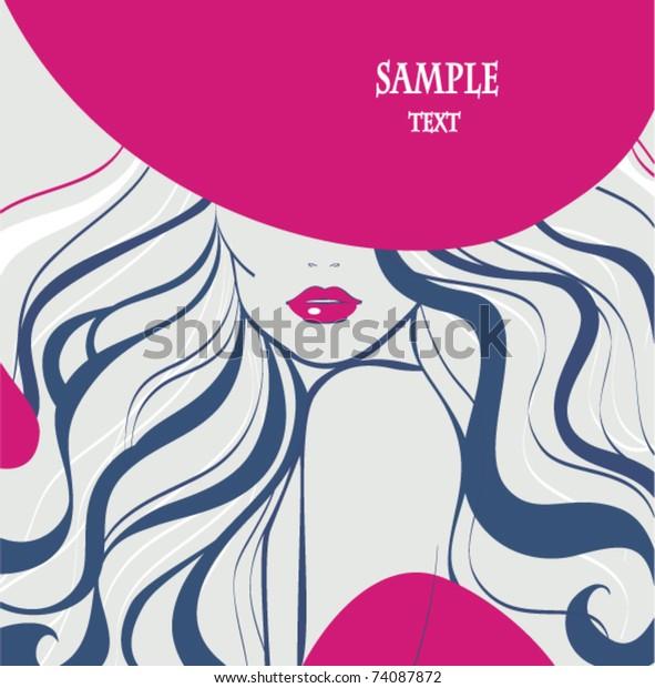 Vector Template Beauty Salon Design Beautiful Stock Vector Royalty Free 74087872