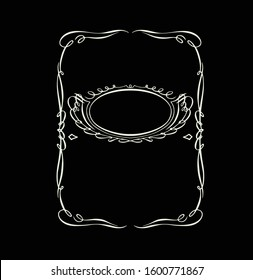 vector template black background with floral element calligraphy Jack Daniels Tennessee Whiskey frame vintage vector element design