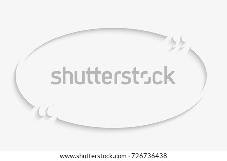 Vector Template Blank Oval Quote Speech Stock Vector