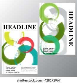Vector template for brochures, covers, flyers or business reports. Abstraction of the colored circles.