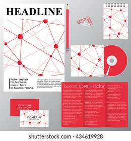 Vector template for brochures, covers, flyers or business reports. The molecular structure. Abstraction.
