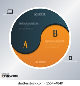 Vector template for business concepts with icons / can use for info graphic