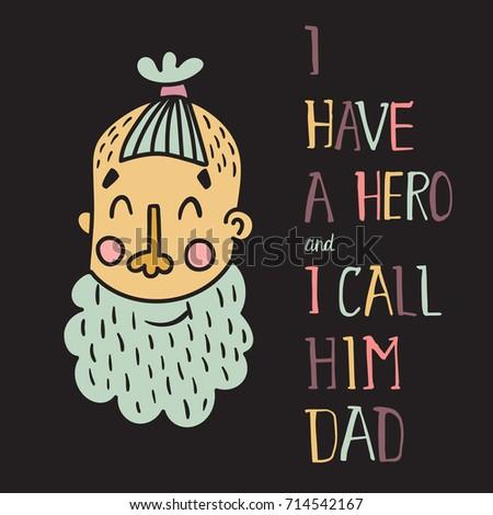 vector template card man head beard stock vector royalty free