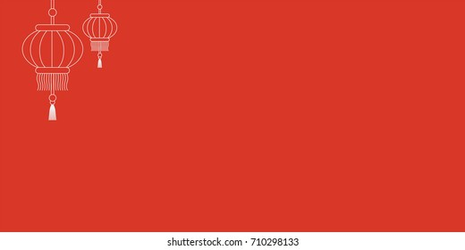 Vector Template Of Chinese New Year Red Gift Card Or Envelope Known As Packet