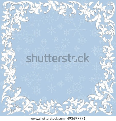 Vector Template Christmas Cards Invitations Backgrounds Stock Vector