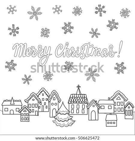 Vector Template Coloring Pages Christmas Cards Stock Vector Royalty
