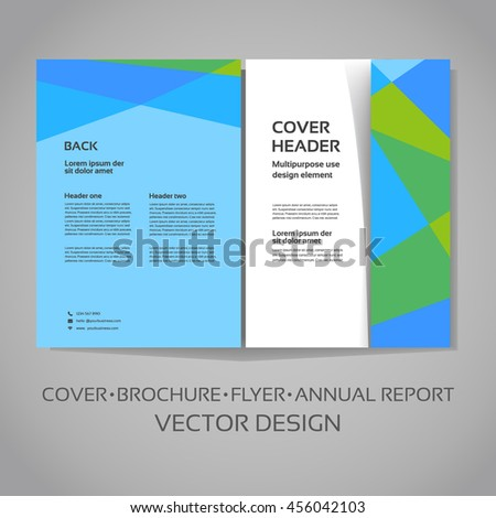vector template cover layout design brochure stock vector royalty