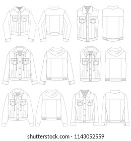 Vector Template for Denim Jackets