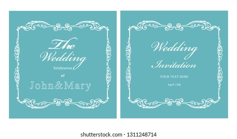 vector template design vintage for wedding and birthday invitations, greeting card, poster, brochures, covers.
