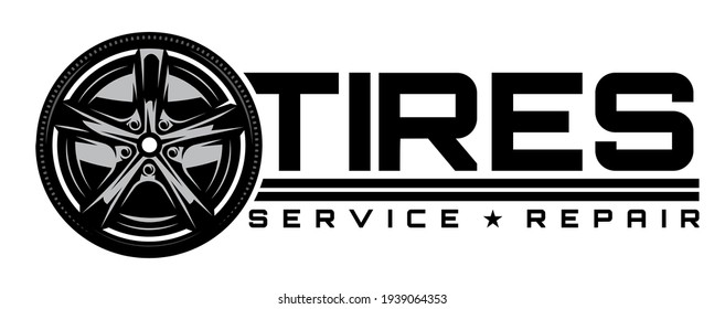 Vector Template with disk car drive. Illustration for logo design, business card, poster, website. Black background.