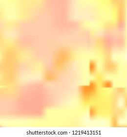 Vector template.  Halftone Backdrop. Colorful tone. Original Wallpaper. Soft color blur background for graphic display design. Abstrat bright orange yellow white gradient illustration.