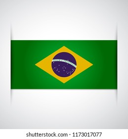 vector template Illustration Brazil flag South American country blue yellow white green
