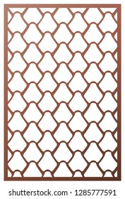 """Vector template laser cut panel. Inspired by Chinese and Japanese  """"Fish scale"""" motif for decorative panel. Wall panel or partition. Reptile, snake, lizard, mermaid tail, dragon skin texture."""