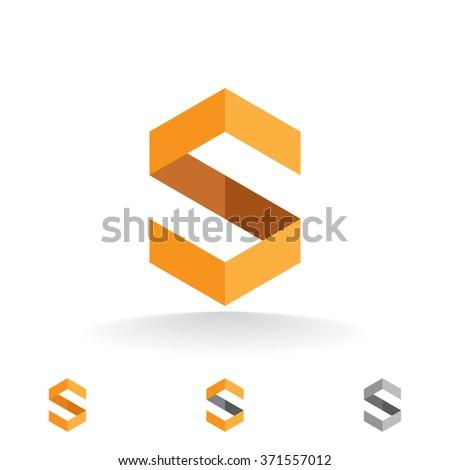 vector template logo design letter s のベクター画像素材