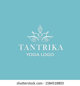 Vector template of logo Tantra Yoga. Yoga, meditation and relax.