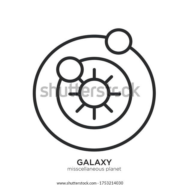 Vector template for miscellaneous planet icon