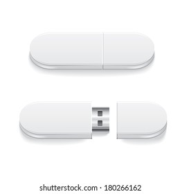 vector template of modern memory cards USB for use in further work on the project and design