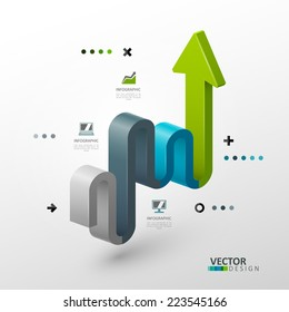 Vector template in modern style. For infographic and presentation