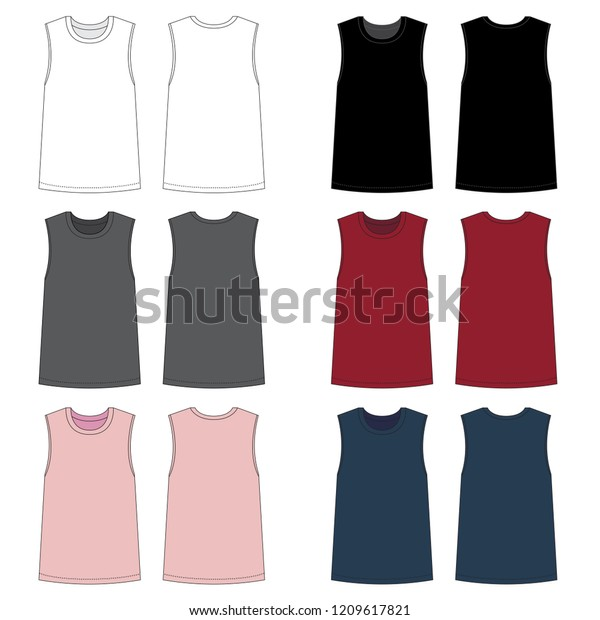 Vector Template Muscle Tank Tops Stock Vector (Royalty Free) 1209617821