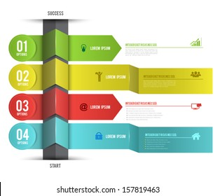 Vector template with number options for business concepts / can use for info-graphic / advertising printing / website / modern template / education template / business brochure / system diagram