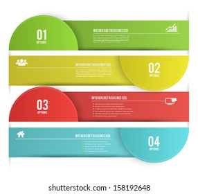 Vector template with number options for business concepts / can use for info-graphic / advertising printing / website / modern template / education template / business brochure