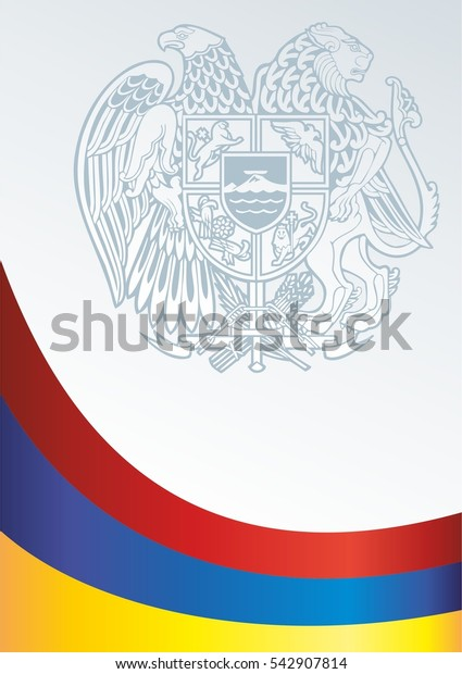 vector template for official papers, awards, descriptions of the flag and the national emblem of the Republic Of Armenia
