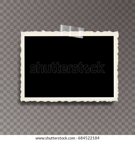 vector template photo frame adhesive tape stock vector royalty free
