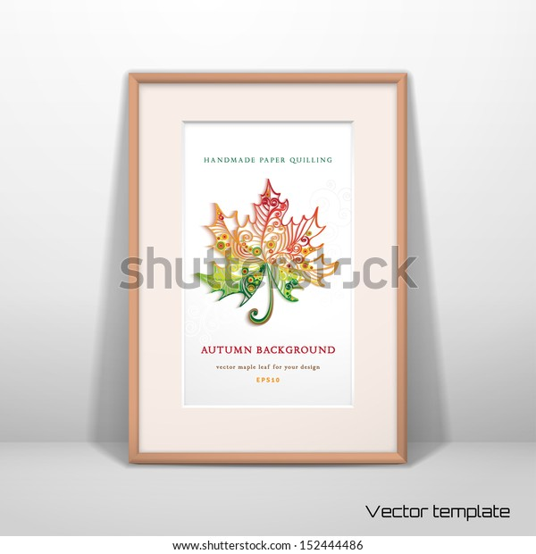 Maple Leaves Quilling Template