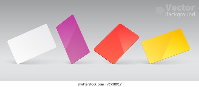 Vector template for plastic card presentation