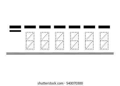 vector template postcode on a postcard