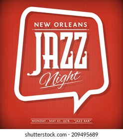 Vector Template of Poster for Jazz Night Event