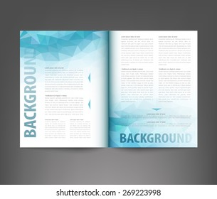 Editorial layout images stock photos vectors shutterstock vector template print edition of the journal with an abstract pattern of triangles maxwellsz