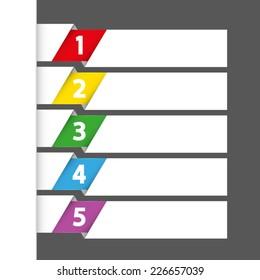 vector template sequence rank list big five