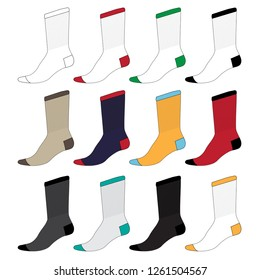 Vector template for socks