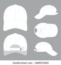 Vector template of a white basecap