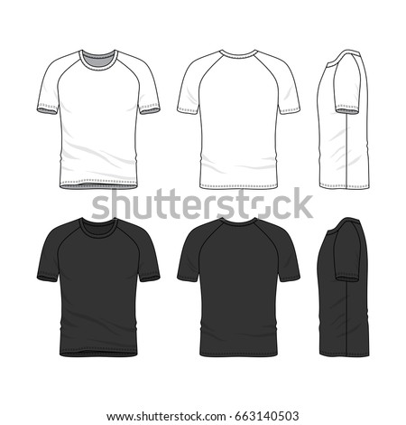 Vector Templates Of Clothing Set Front Back Side Views Blank T