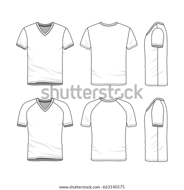 Vector Templates Clothing Set Front Back Stock Vector Royalty Free 663140575